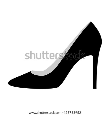 woman shoes on high heels icon