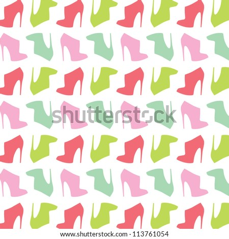 woman shoes seamless pattern vector illustration eps 10