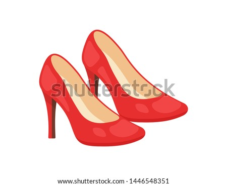 Woman shoes vector icons isolated on white background. Fashion footwear design. Zdjęcia stock ©