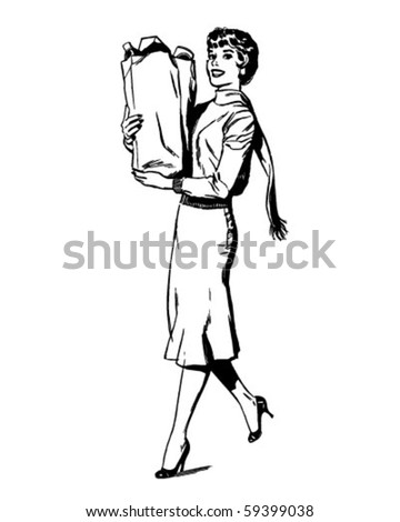 "This ""woman shopping for valentine's day"" clipart image can be licensed as"