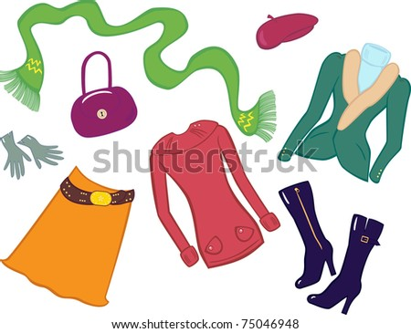 Woman shopping set