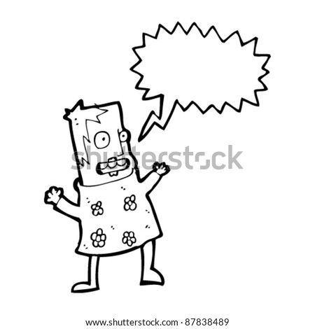 woman shouting cartoon