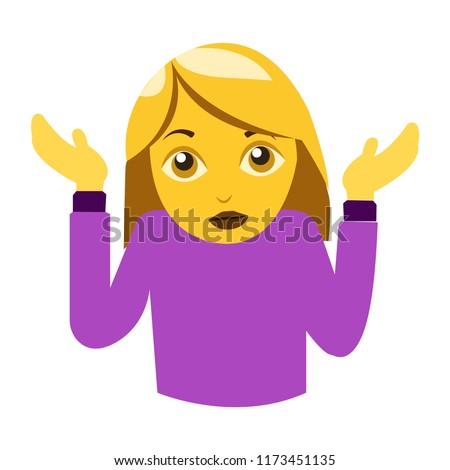 woman shrugging emoji I don't know Сток-фото ©