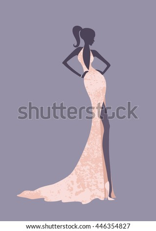 woman silhouette posing wearing