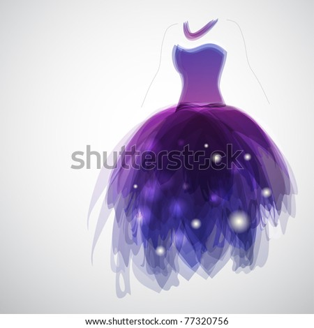 Woman silhouette with gorgeous bride's dress