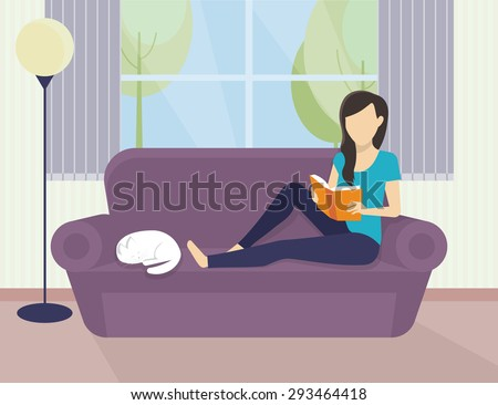 woman sitting at home on the