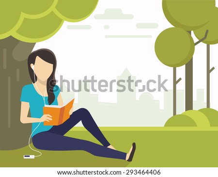 woman sitting on grass in the