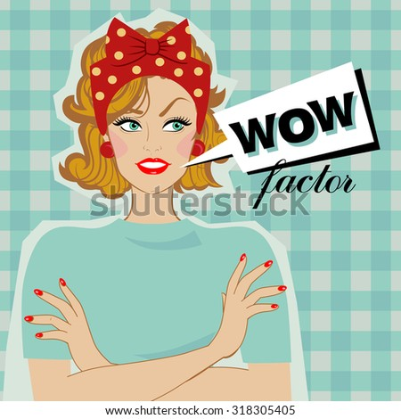 woman smiling and speech bubble