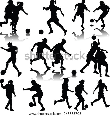 woman soccer player silhouette
