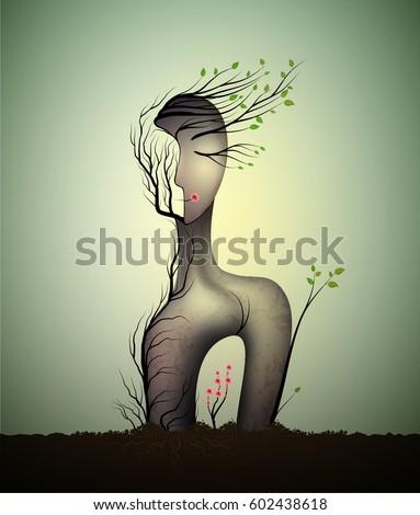 woman soul  surrealistic woman