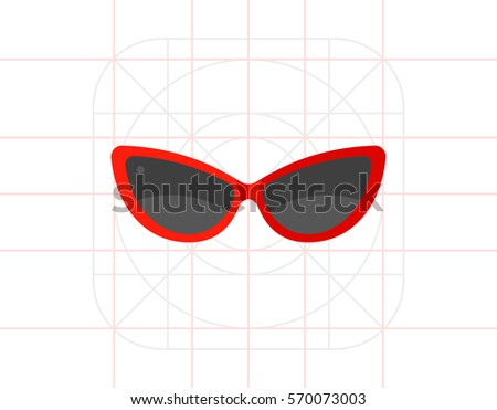 woman sunglasses icon