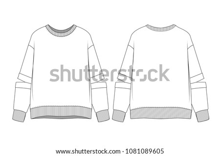 woman sweatshirt vector illustration