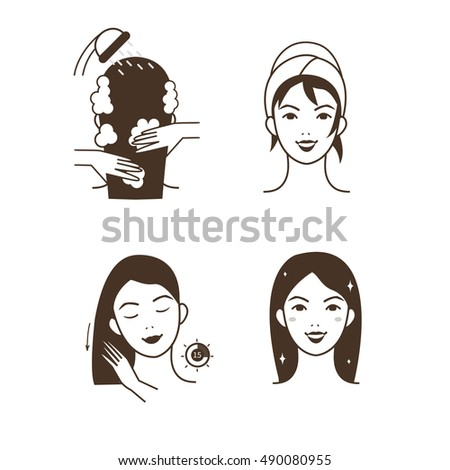 woman take care about her hair