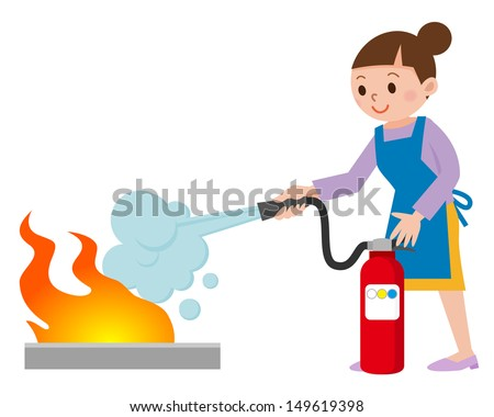 woman to the fire fighting