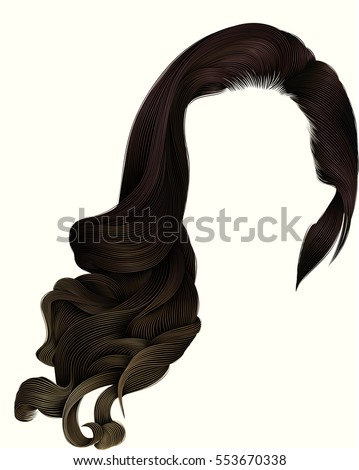 woman trendy long curly