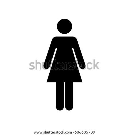 woman vector icon