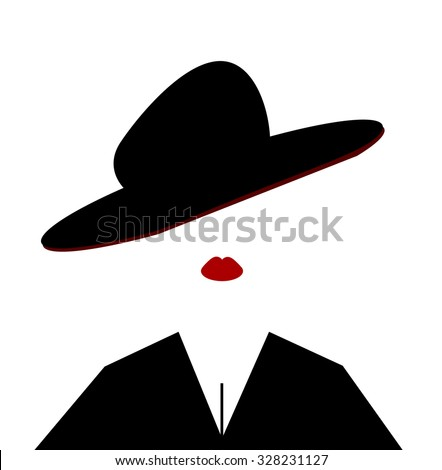 woman wearing large hat tilted