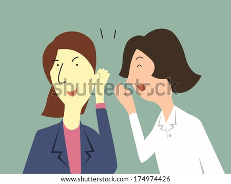 woman whispers to her colleague