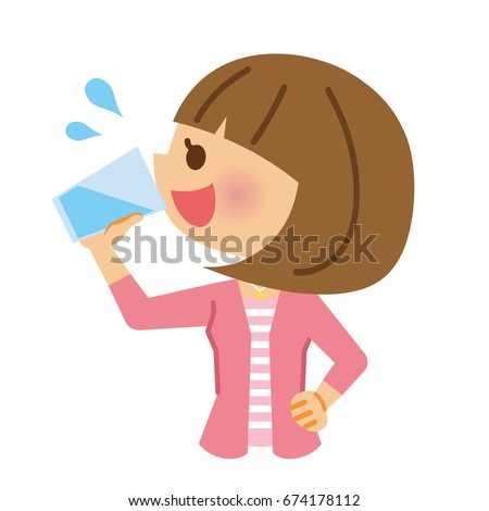 woman who drink the water