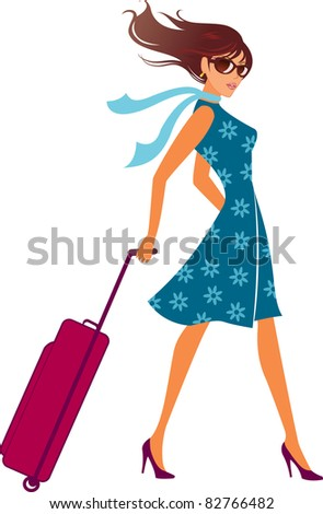 woman with a luggage bag