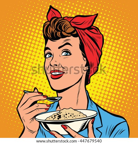 woman with bowl of delicious...