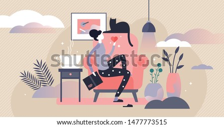 woman with cat vector