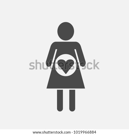 woman with love vector icon for health pregnancy and care #1019966884