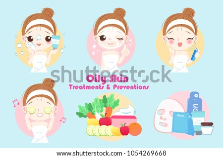 woman with oily skin treatment