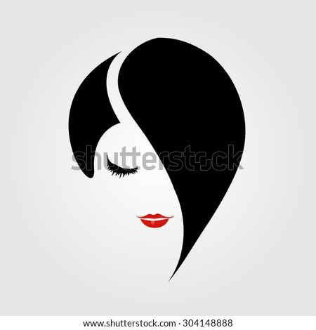 woman with red lipstick and emo