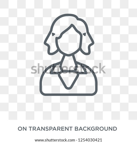 Woman with Stylish Hair icon. Trendy flat vector Woman with Stylish Hair icon on transparent background from Ladies collection. High quality filled Woman with Stylish Hair symbol use for web and