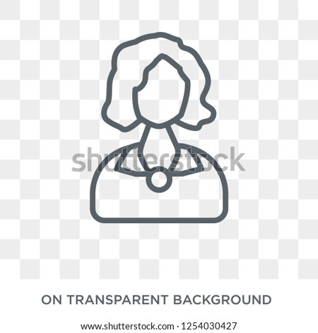 Woman with Wavy Hair icon. Trendy flat vector Woman with Wavy Hair icon on transparent background from Ladies collection. High quality filled Woman with Wavy Hair symbol use for web and mobile