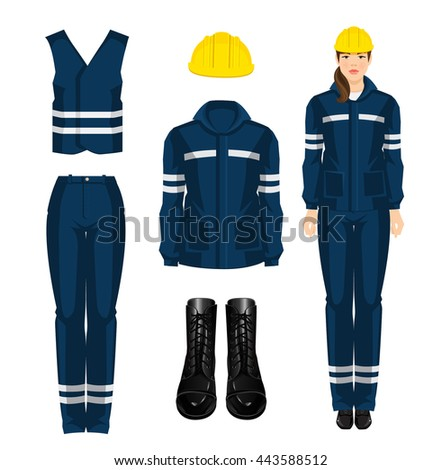 woman worker in protective wear