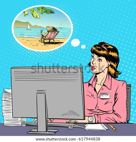 woman working at a computer in