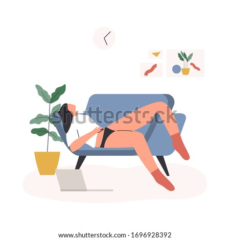 woman working from home woman