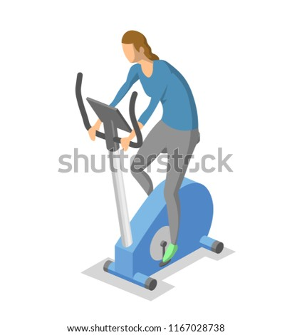 woman working out on exercise