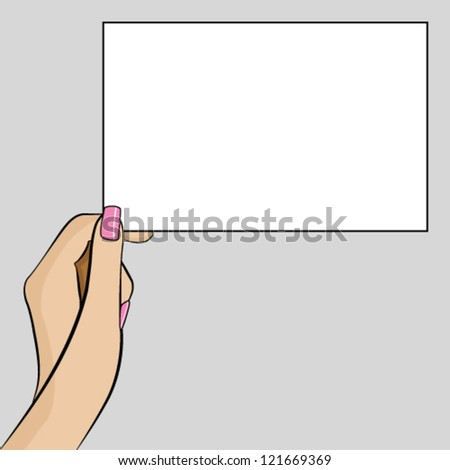 Woman Hand Holding Paper Womans Hand Holding a Piece of