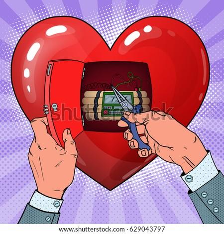 womans heart bomb disposal pop