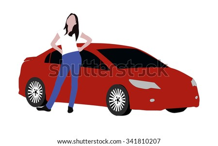 women and car