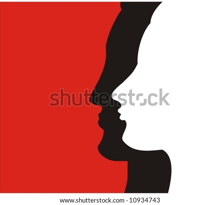 women and  men profile - stock vector