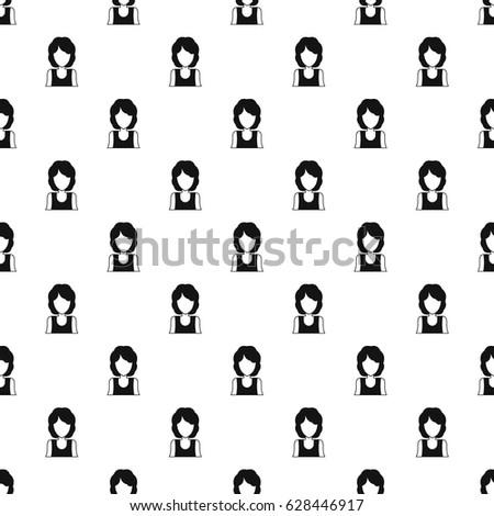 Women avatar pattern seamless in simple style vector illustration #628446917