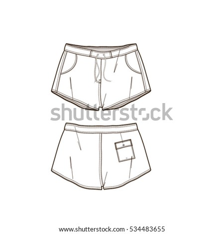 women beach shorts vector