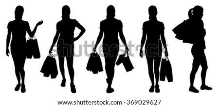 women buying silhouettes on the