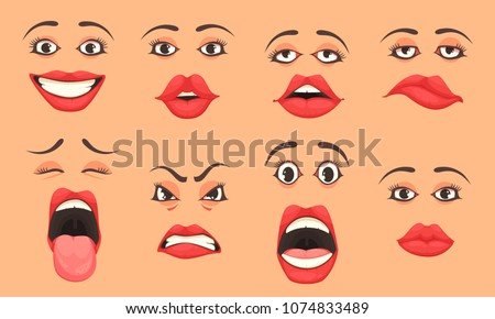 stock-vector-women-cute-mouth-lips-eyes-facial-expressions-gestures-emotions-of-surprise-happiness-sadness