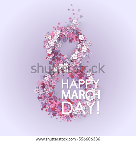 women day background with frame
