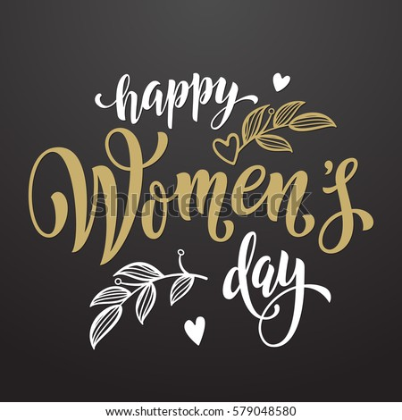 women day greeting card text