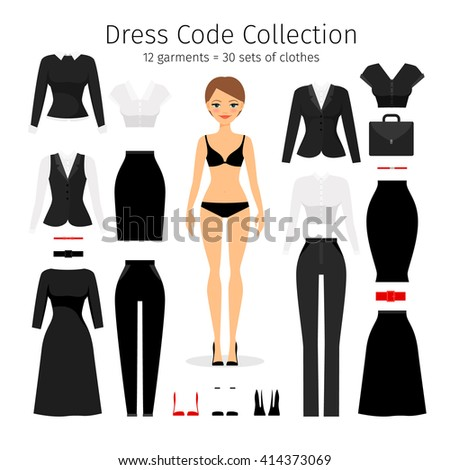 women dress code set woman