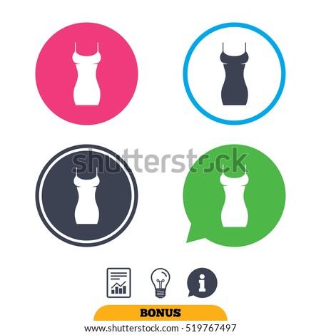 women dress sign icon