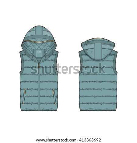 women duck egg blue puffer vest