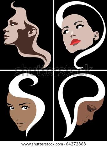 Women face. Female illustration