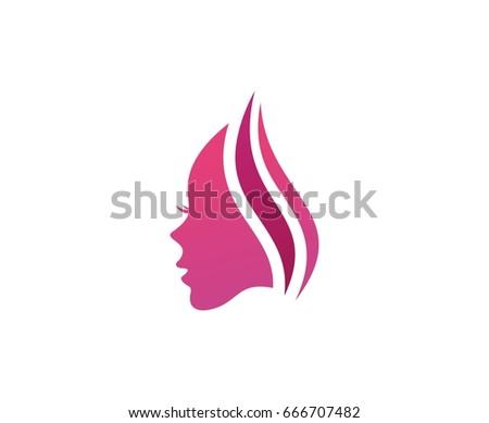 Women face logo